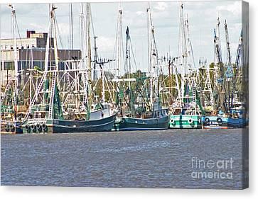Shrimp Boats 3 Port Arthur Texas Canvas Print by D Wallace