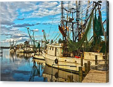 Shrimp Boats Canvas Print by Denis Lemay
