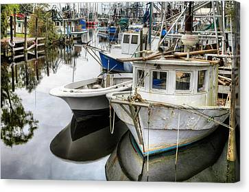 Shrimp Boats Galore  Canvas Print