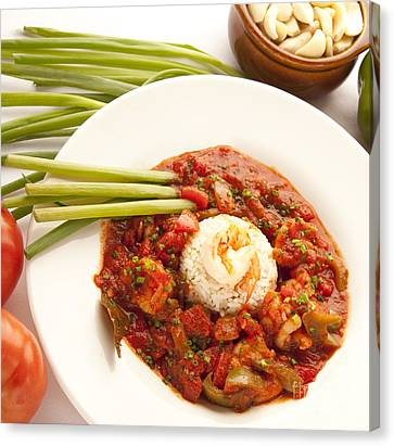 Shrimp Creole Canvas Print by New  Orleans Food