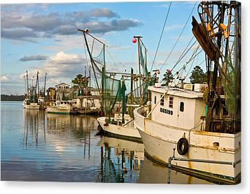 Shrimpers Cove Canvas Print by Denis Lemay