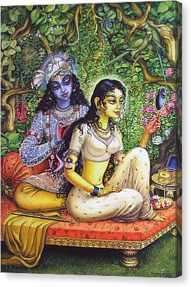 Shringar Lila Canvas Print by Vrindavan Das