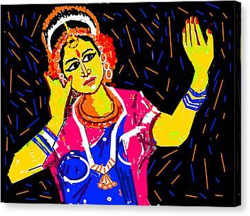 Shringara Rasa Canvas Print by Anand Swaroop Manchiraju