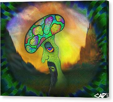 Shroomery No. 2 Canvas Print by Connor Purcell