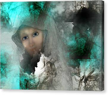 The Universe Canvas Print - Shroud Of Truth by Patricia Motley