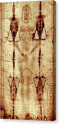 Canvas Print featuring the digital art Shroud Of Turin by A Samuel