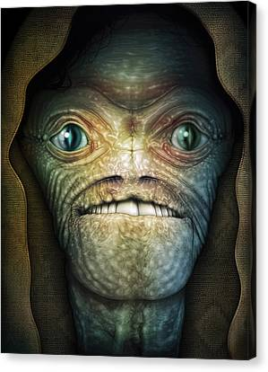 Shrouded Alien Canvas Print