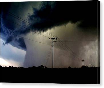 Canvas Print featuring the photograph Shrouded Tornado by Ed Sweeney