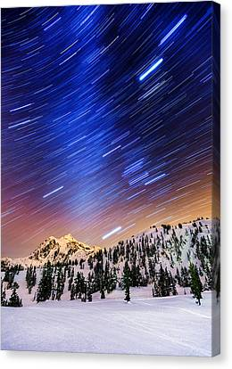 Shuksan Star Trails Canvas Print by Alexis Birkill