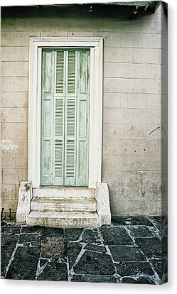 Canvas Print featuring the photograph Shuttered Doors by Heather Green