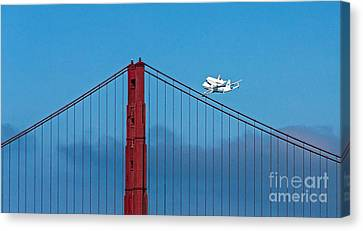 Shuttle Endeavour At The Golden Gate Canvas Print