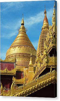 Shwezigon Pagoda, Bagan, Mandalay Canvas Print by Keren Su