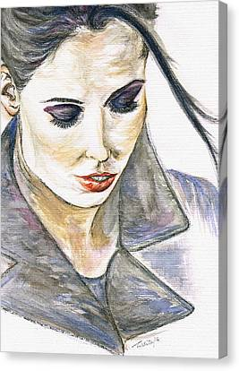 Shy Lady Canvas Print