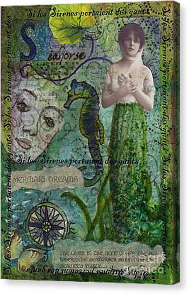 Si Les Sirenes Canvas Print by Tamyra Crossley