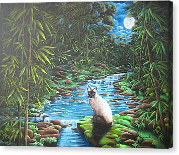 Siamese Bamboo Canvas Print by Diana Lehr