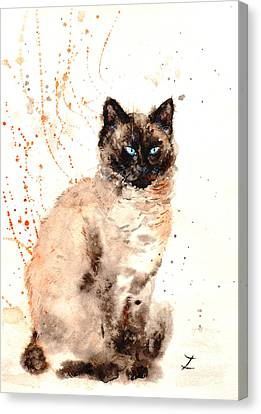 Siamese Beauty Canvas Print by Zaira Dzhaubaeva