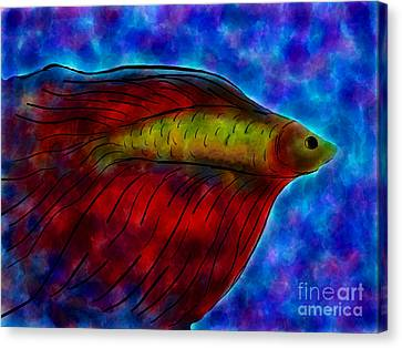 Siamese Fighting Fish II Canvas Print by Anita Lewis