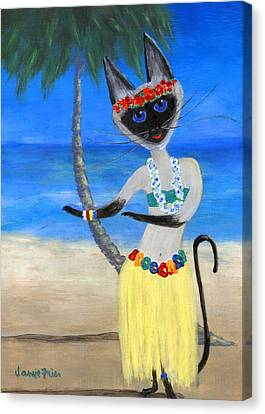 Siamese Queen Of Hawaii Canvas Print by Jamie Frier
