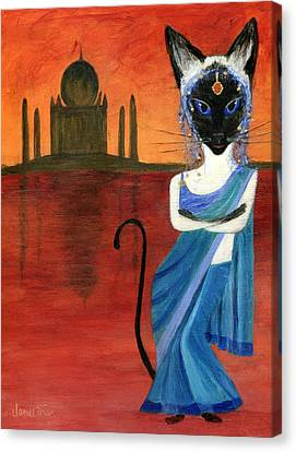 Siamese Queen Of India Canvas Print by Jamie Frier
