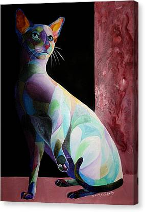 Siamese Shadow Cat 1 Canvas Print