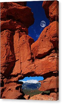 Siamese Twins Rock Formation At Garden Of The Gods Canvas Print