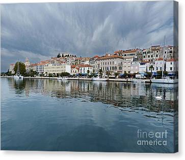 Sibenik Waterfront - Croatia Canvas Print by Phil Banks