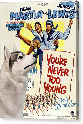 Siberian Husky Art Canvas Print - You Never Too Young Movie Poster Canvas Print by Sandra Sij