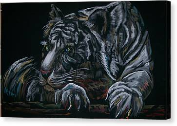 Canvas Print featuring the pastel Siberian Tiger by Peter Suhocke