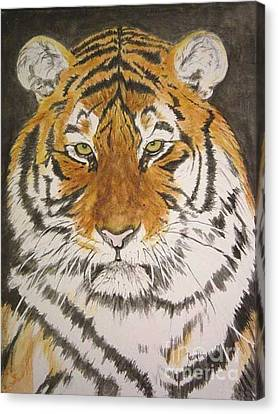 Siberian Tiger Canvas Print by Regan J Smith