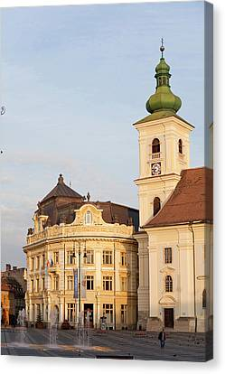 Sibiu, Hermannstadt In Transylvania Canvas Print by Martin Zwick