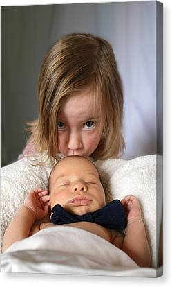 Sibling Love Canvas Print