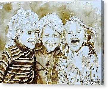 Siblings Fun Canvas Print