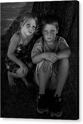 Siblings Canvas Print by Julie Dant
