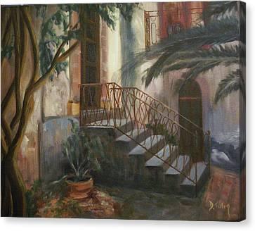 Sicilian Nunnery Canvas Print by Donna Tuten