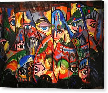 Sicilian Puppets IIi Canvas Print