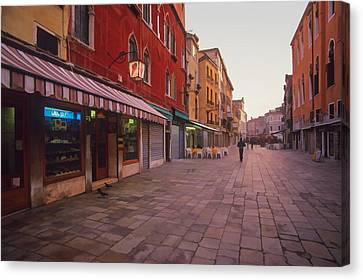 Italian Landscape Canvas Print - Sicilian Street Scene by Cliff Wassmann