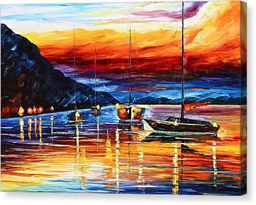 Sicily Messina Canvas Print by Leonid Afremov