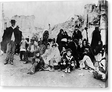 Sicily Refugees, C1909 Canvas Print by Granger