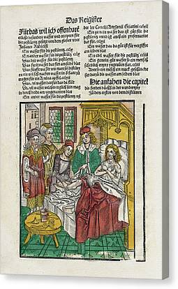 Healer Canvas Print - Sickbed Treatments by National Library Of Medicine