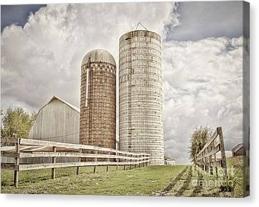 Side By Silo Canvas Print