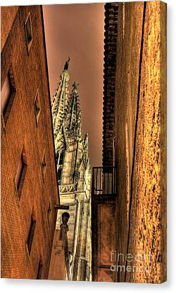 Canvas Print featuring the photograph Side Of Gaudi by Erhan OZBIYIK