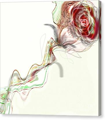 Canvas Print featuring the digital art Side Rose by Gabrielle Schertz