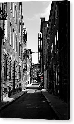 Canvas Print featuring the photograph Side Street On The North End by Nadalyn Larsen