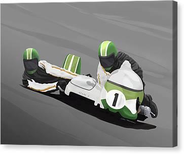 Sidecar Racer Canvas Print by MOTORVATE STUDIO Colin Tresadern