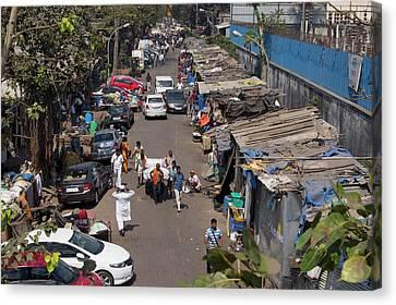 Sidestreet In Mumbai Canvas Print