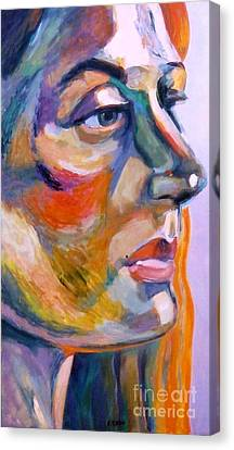 Sideview Of A Woman Canvas Print by Stan Esson