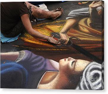 Sidewalk Art 3 Canvas Print by Bob Christopher