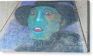 Canvas Print featuring the photograph Sidewalk Halloween Contest by Janette Boyd
