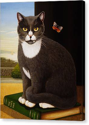 Sidney, 1993 Oils And Tempera On Panel Canvas Print by Frances Broomfield