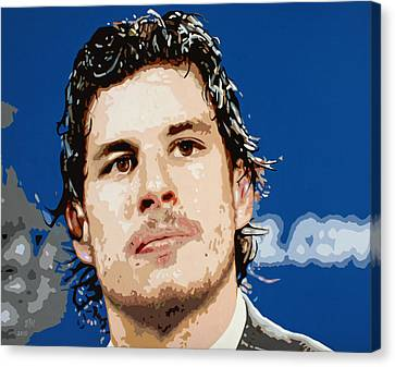 Sidney Crosby Canvas Print by Dennis Nadeau